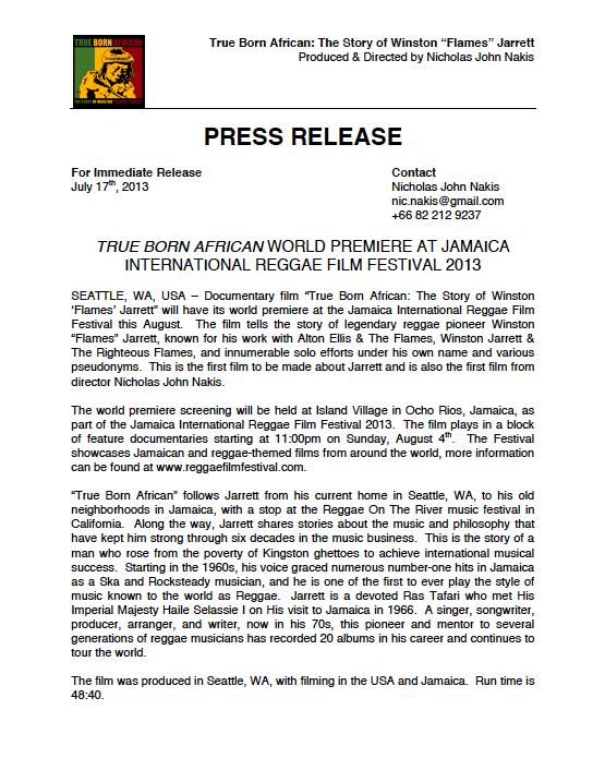 TBA World Premiere Press Release